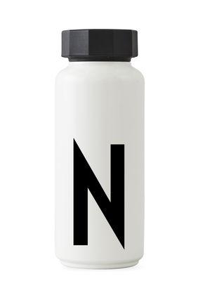Arne Jacobsen Isothermflasche - 500 ml - Buchstabe N Weiß Design Letters Arne Jacobsen