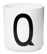 Mug Arne Jacobsen Letter Q White Design Letters Arne Jacobsen