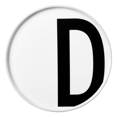 Arne Jacobsen Teller Buchstabe D - Ø 20 cm Weiß Design Letters Arne Jacobsen