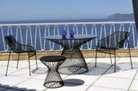 mesa redonda céu Ø 80 cm alumínio Emu Jean-Marie Massaud 1