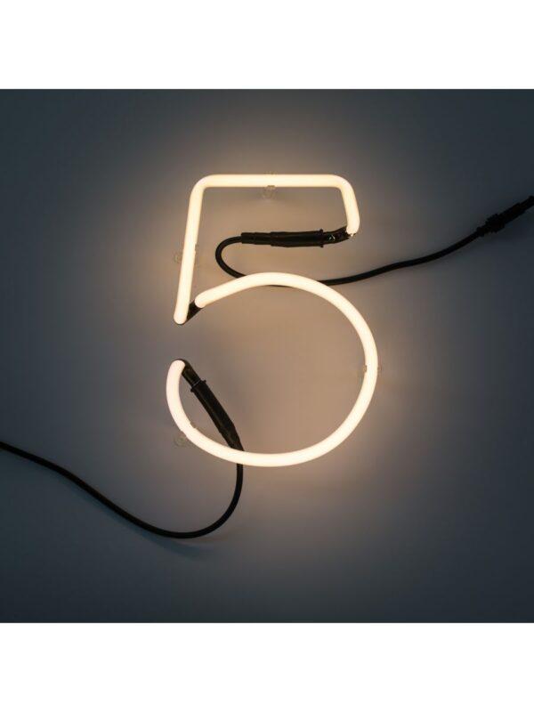 Neon Art Wall Lamp - 5 Nimewo Blan Seletti Selib