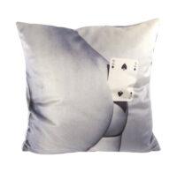 Toiletpaper Cushion - Two of Spades - 50 x 50 cm Multicolor | White Seletti Maurizio Cattelan | Pierpaolo Ferrari