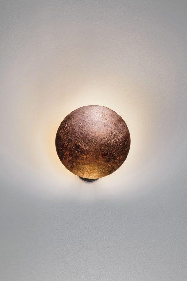 Lederam W1 Wandleuchte / LED - 1 verstellbare Scheibe Ø 25 cm Kupfer Catellani & Smith Enzo Catellani
