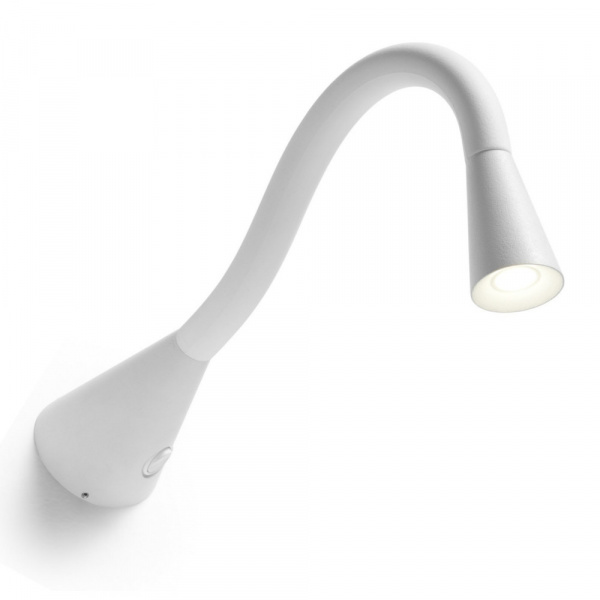 Snake LED AP L Wall Lamp White articulated applique Linea Light Group Centro Design LLG