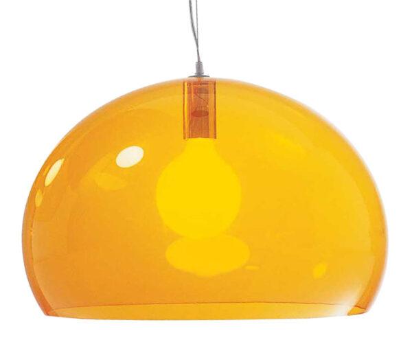 Suspension lamp FL / Y - Ø 52 cm Orange Kartell Ferruccio Laviani 1