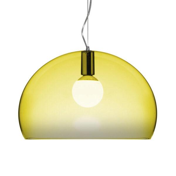 Lámpara de suspensión FL / Y Pequeño - Ø 38 cm Amarillo Kartell Ferruccio Laviani 1