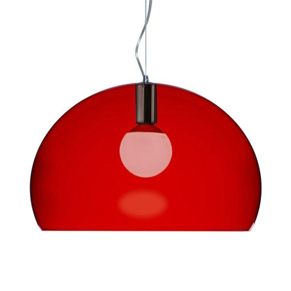 Suspension lamp FL / Y Small - Ø 38 cm Red Kartell Ferruccio Laviani 1