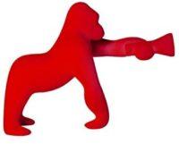 Kong XS Velvet Finish Red Qeeboo Table Lamp Stefano Giovannoni 1