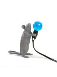 Lampada da Tavolo Mouse Standing #1 - Topo in piedi Grigio Seletti Marcantonio Raimondi Malerba