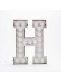 Vegaz Stehleuchte - Buchstabe H - H 60 cm Weiß Seletti Selab