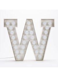 Vegaz Stehleuchte - Buchstabe B - H 60 cm Weiß Seletti Selab