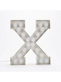 Vegaz Stehleuchte - Buchstabe X - H 60 cm Weiß Seletti Selab