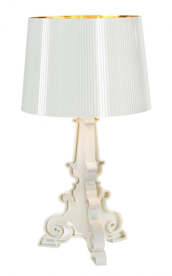 Bourgie Lampe De Table En Or Blanc Kartell Ferruccio Laviani 1