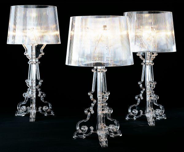 Διαφανής επιτραπέζιο φωτιστικό Kartell Bourgie Ferruccio Laviani 2