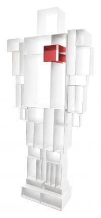 Bibliothèque White Robox | Casamania Fabio Novembre, rouge