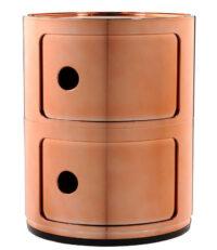 Mobile contenitore Componibili / 2 cassetti Rame Kartell Anna Castelli Ferrieri 1
