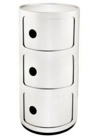Mobile contenitore Componibili / 3 cassetti Bianco Kartell Anna Castelli Ferrieri 1