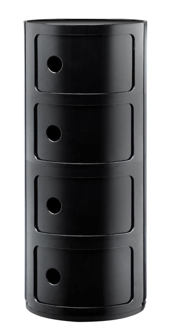 Modularer Stauraum / 4 Schubladen Schwarz Kartell Anna Castelli Ferrieri 1