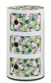 Mobile contenitore Componibili La Double J - / 3 cassetti - H 58 cm Bianco|Ninfea Kartell Anna Castelli Ferrieri 1