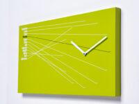 Linha do tempo Relógio de parede verde Progetti Alberto Sala 1