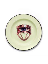 Toiletpaper Plate - Seletti Multicolored Eye Maurizio Cattelan | Pierpaolo Ferrari