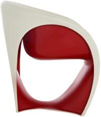 Sillón MT1 Arena blanca | Rojo Driade Ron Arad 1