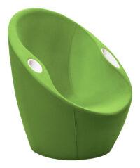 Autsch Sessel mit grünen Casamania Karim Rashid Armlehnen