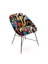 Toiletpaper Fauteuil - Snakes - L 60 cm Multicolore | Noir Seletti Maurizio Cattelan | Pierpaolo Ferrari