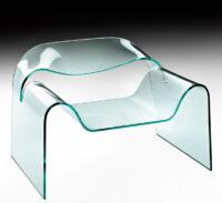 Low Transparent Ghost armchair FIAM Cini Boeri