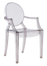 Poltrona impilabile Louis Ghost Fumé Kartell Philippe Starck 1
