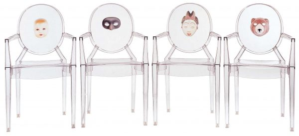 Fauteuil empilable Louis Ghost - Masque transparent Kartell Philippe Starck 2