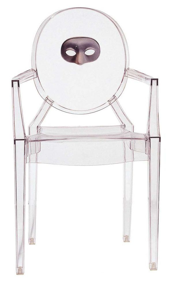 Fauteuil empilable Louis Ghost - Masque transparent Kartell Philippe Starck 1