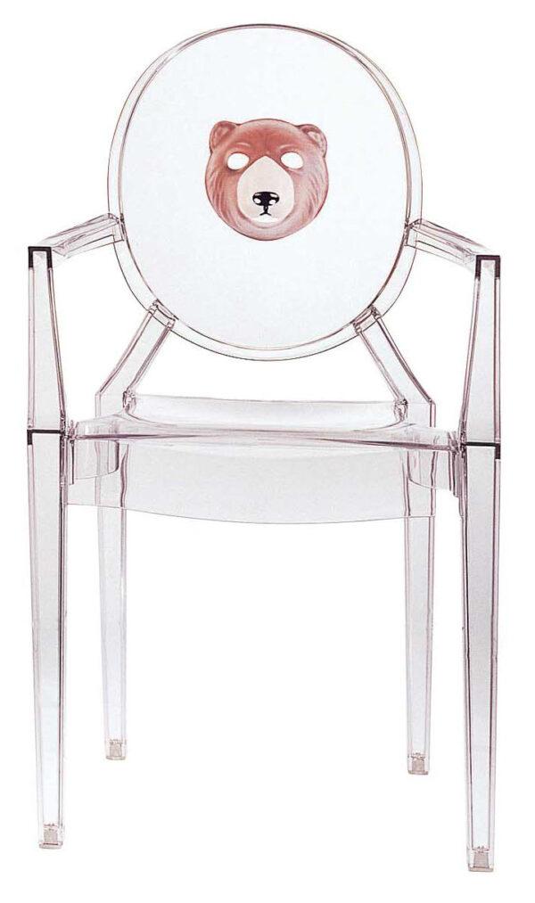 Πολυθρόνα Louis Ghost στοίβα - Διαφανής αρκούδα Kartell Philippe Starck 1