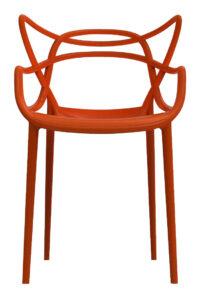 Masters stapelbarer Sessel Rostorange Kartell Philippe Starck | Eugeni Quitllet 1