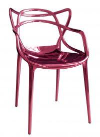 Masters stackable πολυθρόνα - Περιορισμένη έκδοση 20 χρόνια MID Μεταλλικό ροζ Kartell Philippe Starck | Eugeni Quitllet 1