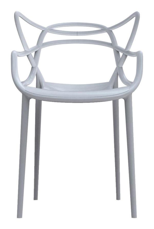 Masters stapelbarer Sessel Grau Kartell Philippe Starck   Eugeni Quitllet 1