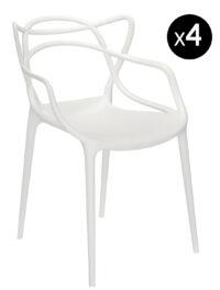 Masters Stackable Armchair - 4er-Set White Kartell Philippe Starck | Eugeni Quitllet 1