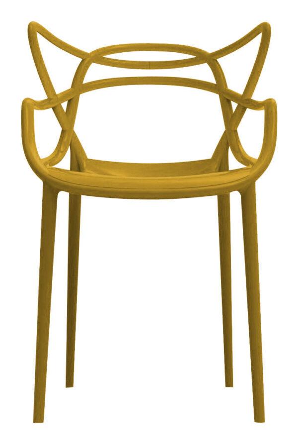 Πολυθρόνα Masters Mostarda Kartell Philippe Starck στοίβαξη   Eugeni Quitllet 1