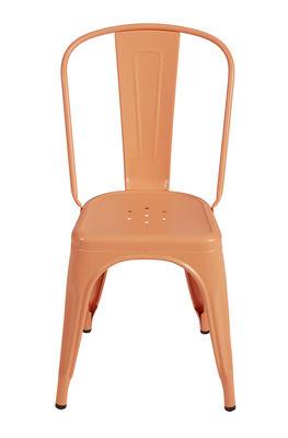 Matt pink flamingo chair Tolix Xavier Pauchard 1