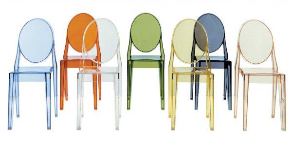 Victoria Ghost Fumé Kartell Philippe Starck 2 stapelbarer Stuhl