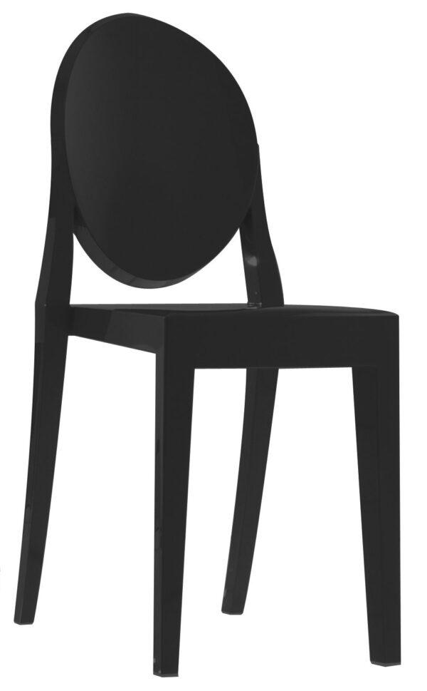 Cadeira empilhável Victoria Ghost Preto mate Kartell Philippe Starck 1