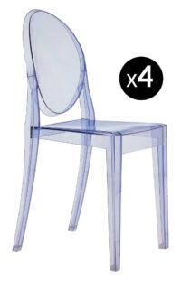 ビクトリアゴーストスタッカブルチェア-4個セットライトブルーKartell Philippe Starck 1