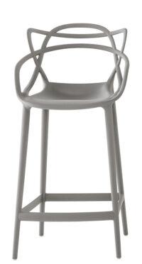 Sgabello alto Masters - H 65 cm Grigio Kartell Philippe Starck|Eugeni Quitllet 1