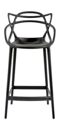 Sgabello alto Masters - H 65 cm Nero Kartell Philippe Starck|Eugeni Quitllet 1