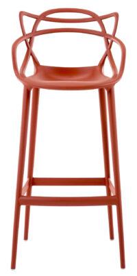 Sgabello alto Masters - H 75 cm Arancio ruggine Kartell Philippe Starck|Eugeni Quitllet 1