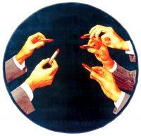 Twalèt papye twalèt - Lipsticks - Ø 194 cm - Epesè: 7 mm - Dansite: 1,40 kg / m2 Multicolored Seletti Maurizio Cattelan | Pierpaolo Ferrari
