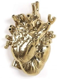 Vase Love in Bloom Gold Seletti Marcantonio Raimondi Malerba