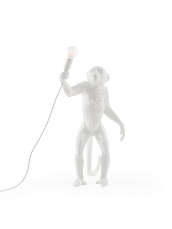 Candeeiro de mesa ao ar livre de pé de macaco - H 54 cm Branco Seletti Marcantonio Raimondi Malerba