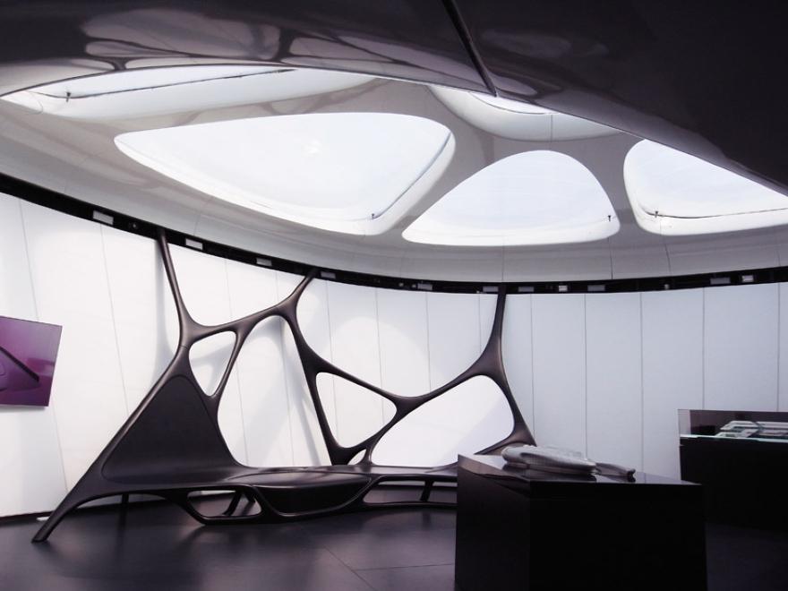 Mobile Art Pabellón 17 de Zaha Hadid
