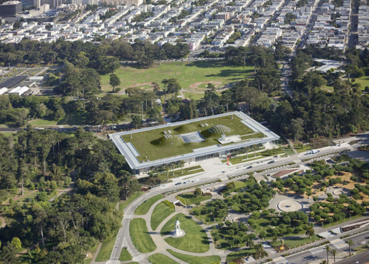 カリフォルニア·アカデミー·オブ·サイエンス - 緑 - 屋根3